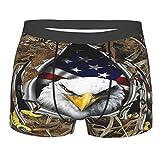 Bandera americana águila rota roble de los hombres calzoncillos bóxer suave transpirable elástico ropa interior novedad ropa interior