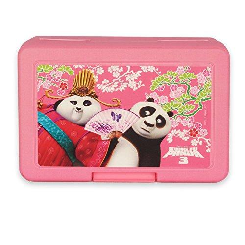 Kung Fu Panda 3 – Contenitore per il pranzo rosa Po con Mei Mei Mei