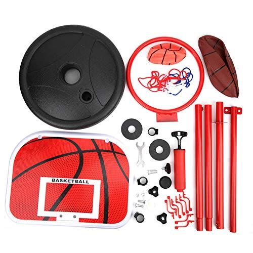 FOLOSAFENAR Soporte de Baloncesto para niños, Juego de Equipo de Entrenamiento para niños de Altura Ajustable Duradera