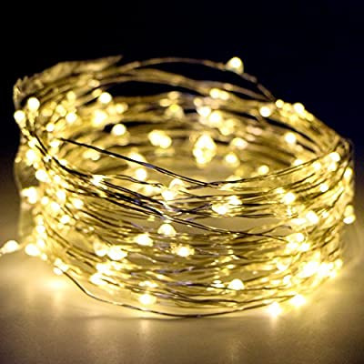 Kany 100 LED 33 ft String Lights Copper Wire LED Lights, Battery Operated Waterproof Starry String Lights, Decorative Rope Lights For Seasonal Christmas Holiday, Wedding, Parties