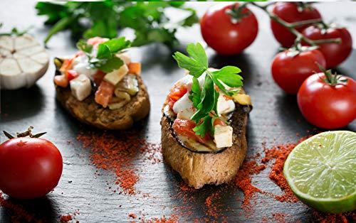 Bild auf Leinwand aus HD 70 x 50 für Pizzeria mit Stoff für italienische Küche und Salaten.