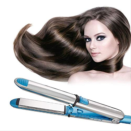 XHCP Peigne à Barbe Nano Titanium Alloy Floating Plate LCD Straight Hair Machine Professional Electric Straightening UK Blue with Box