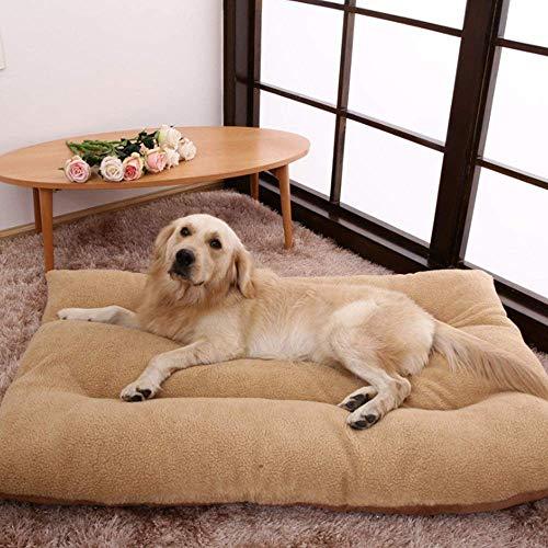 Accesorios para mascotas camas Extra grande XXL Brown Dog Cat Cat Cushion Almohada Mantenga altura Fleece for perros grandes, desmontable y lavable, cesta de perros, rojo, m Cama para mascotas dog cat