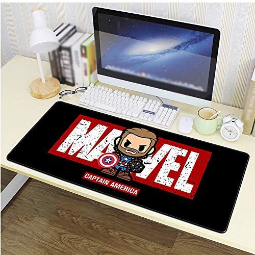 Vendicatori Iron Man Grande Espansione Tappetino for Mouse, Impermeabile Gaming Keyboard Scrivania Mat, Seduta del Mouse, Laser E Ottica di Fondo Naturale in Gomma Antiscivolo Compatibile AA+++