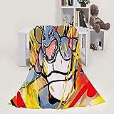 MEW Anime Poke-mon mantas ligeras, Nidoking, suave y acogedora, manta de forro polar de franela para adultos y niños, sala de estar, dormitorio, estudio, sofá cama y viajes de playa, 152 x 127 cm