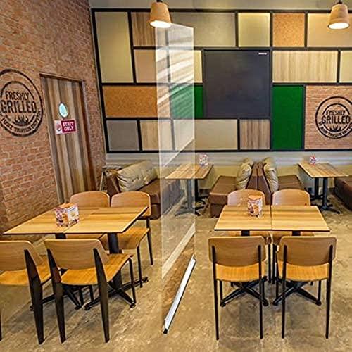 EW&HU Piso de pie Sneeze Guard Portable Roll Up Banner con protector de protección de cine transparente para salones de oficina Clínicas Tiendas Restaurantes (Size : 80 * 200cm)