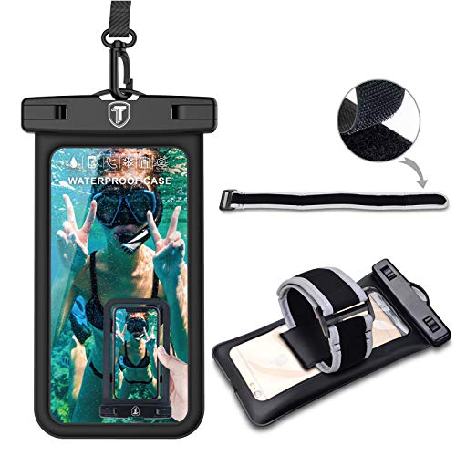 Njjex Waterproof Phone Pouch Floating Case Cellphone Dry Bag ArmBand/Lanyard For Samsung Galaxy Note 20 Ultra S21+ S20 S10 S9 A02S A12 A32 A42 A52 A01 A11 A21 A51 A71 iPhone 13 Pro Max 12 11 Xs Xr 8 7