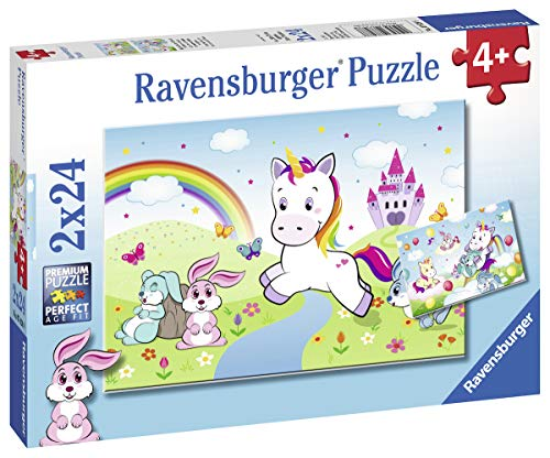 Ravensburger Kinderpuzzle 07828 - Märchenhaftes Einhorn - 2 x 24 Teile