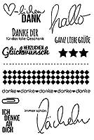 ドイツ語透明クリアシリコンスタンプ/DIYスクラップブッキング用シール/フォトアルバム装飾クリアスタンプW1425