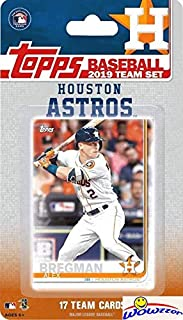 Houston Astros 2019 Topps Baseball EXCLUSIVE Special Limited Edition 17 Card Complete Team Set with Alex Bregman, Carlos Correa, Jose Altuve & Many More Stars & RCs! Shipped in Bubble Mailer! WOWZZER!