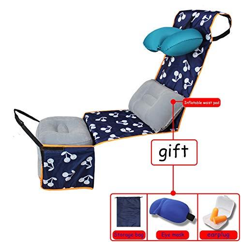 QMJHL Flugzeug Zug Fußpedal Hängematte, Reise Körper entspannt und komfortabel aufblasbare Schlafzubehör U-förmige Kissenmatte Hängematte Anti-Schmutz-Matte