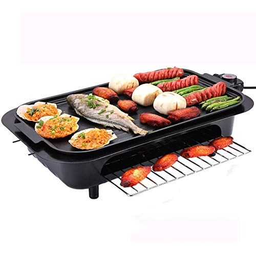 Barbecue-Grill-Haushalt Elektrogrill Pan Smokeless Antihaft- Backblech Grill mit Edelstahl-Halterung for Indoor Outdoor DYWFN