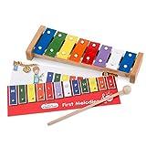 New Classic Toys Instrument de Musique pour débutants Métallophone à 8 tons avec le livre de musique