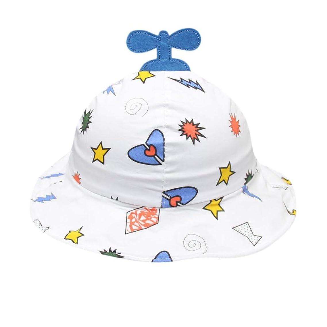 パフ増強する以来Mhomzawa ベビー用ハット つば広 赤ちゃんキャップ キッズ 帽子 子供サンバイザー フィッシャーマンハット アニマル図案 男の子 女の子 男女児 紫外線 UVカット お出かけ かわいい