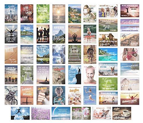 Edition Seidel Set 50 Postkarten Leben & Momente mit Sprüchen - Karten mit Spruch - Geschenk - Geschenkidee - Sortiment - Text - Liebe Freundschaft Leben Motivation Achtsamkeit