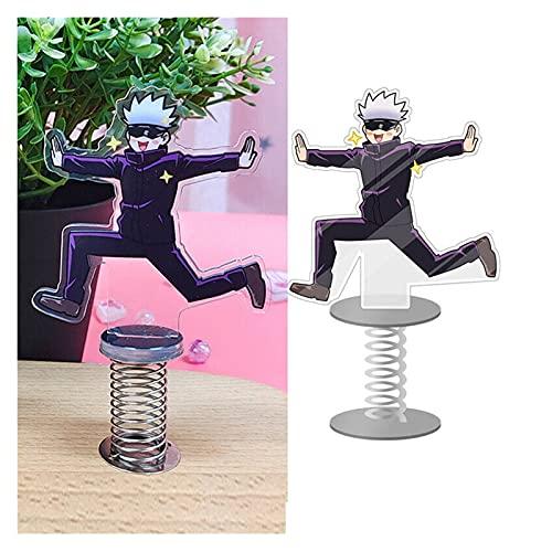 DingHome Jujutsu Kaisen gojo satoru Divertido Figura Figura Anime Escritorio de exhibición Soportes Ornamentos agitando agitación acrílico Cola de Placa ( Color : 1 )