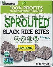 Organic Sprouted Black Rice Crackers – Gluten Free, Vegan, Paleo Snacks – Sea Salt Flavor (1)