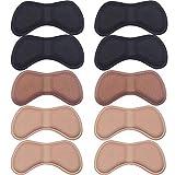 YXZQ 5 Paar Heel Grip Liner Selbstklebende Schuheinlagen Kissenauflagen Aufkleber Fußpflegeschutz, Schwarz, Khaki und Braun