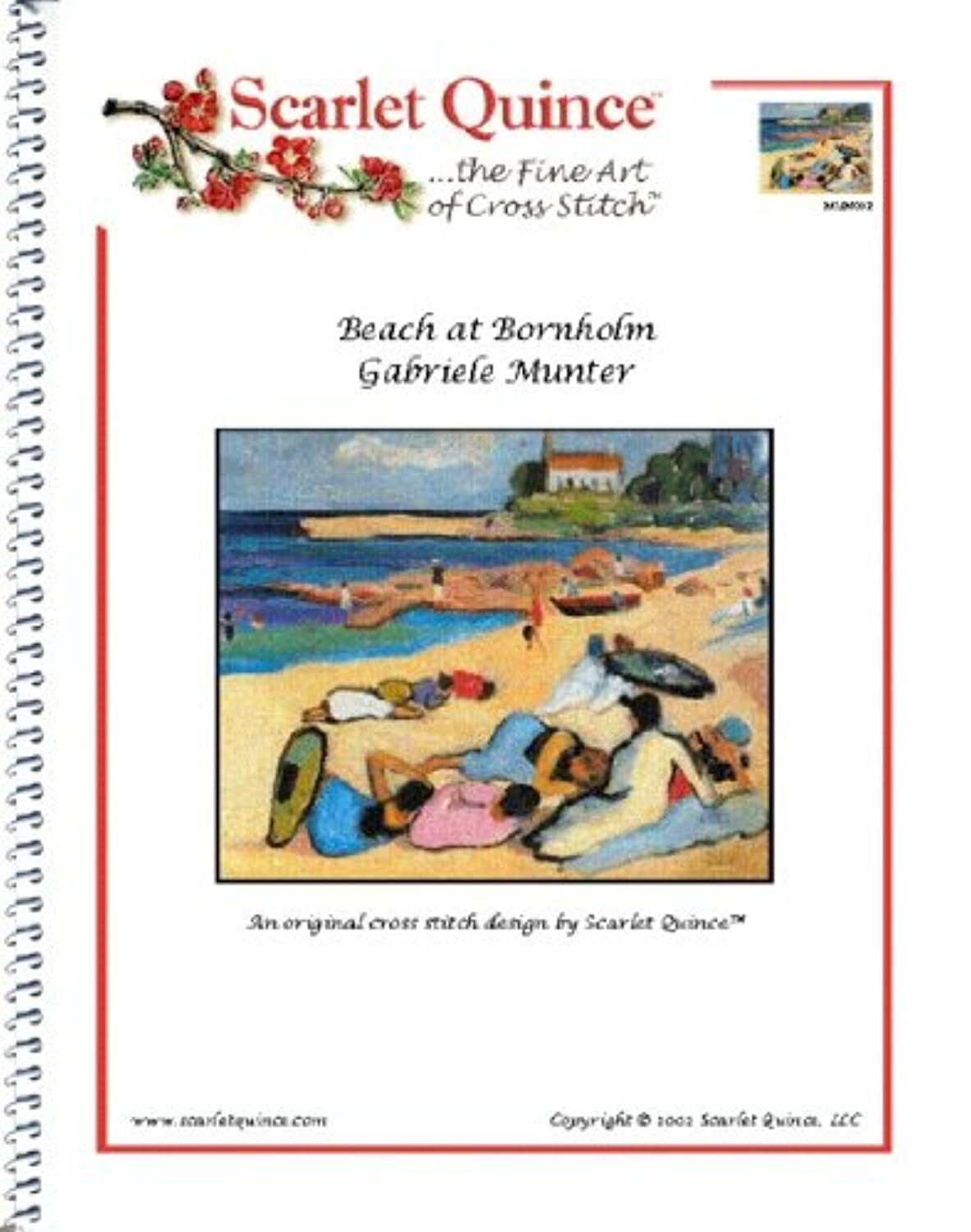 Scarlet Quince MUN002 Beach at Bornholm by Gabriele Munter Counted Cross Stitch Chart, Regular Size Symbols