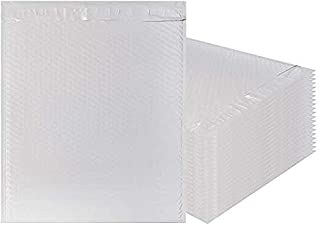 Amiff White Poly Bubble mailers 14.75 x 20 Padded envelopes 14 3/4 x 20. Pack of 10 Large Poly Cushion envelopes. Exterior Size 15x20 (15 x 20). Peel and Seal. Mailing, Shipping, Packaging.