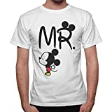 thedifferent T-Shirt Uomo Idea Regalo San Valentino Mr. Topolino- Disp. Anche Donna
