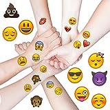Oblique Unique® Emoji Sticker Temporäre Tattoos 48 Stück Aufkleber XXL Emoticons -