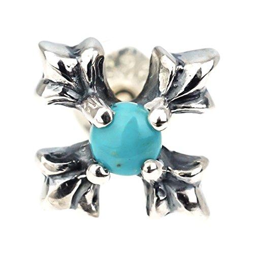 ジナブリング (JINA BRING) シルバーピアス シルバー925 ターコイズ リリークロス シリコンキャッチ 天然石 パワーストーン ピアス 片耳販売 メンズ レディース