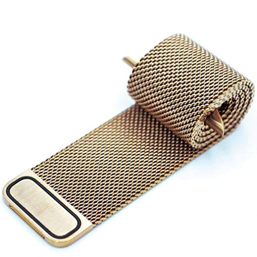 Suitable for Apple Iwatch Watch with Magnetic Metal Mesh Belt Gold
