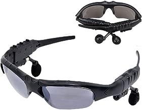 Spevert Black Bluetooth 4.0 Sunglasses Sun Glasses Music Handsfree Headset Headphones for iPhone,Samsung Galaxy,HTC,LG and All Smart Phones