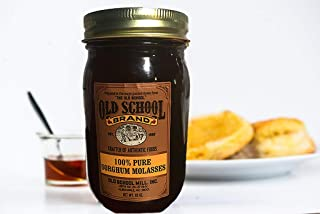 Old School Brand 100% Pure Sorghum Molasses 22 ounces - No Additives or Preservatives - 100% Pure and Natural