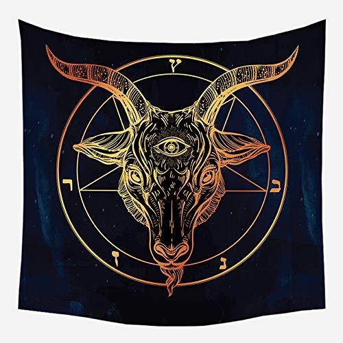 Mandala tapiz brujería astrología manta de sol hippie sala de estar decoración psicodélica tapiz telón de fondo tela a10 130x150cm