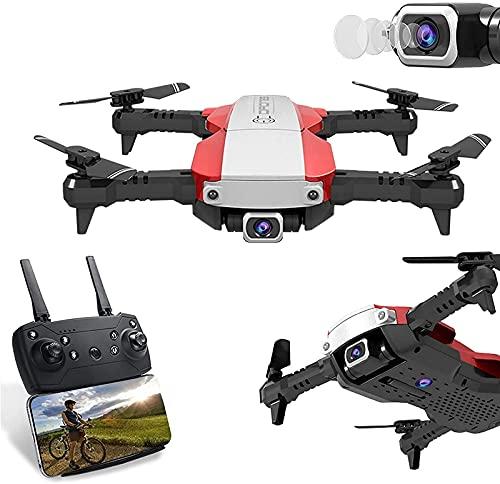 rzoizwko Drone, Drone Quadcopter Plegable de 4K píxeles, Control Remoto de Altura Fija de Flujo óptico con cámara de Gestos Control de teléfono móvil Experiencia de Realidad Virtual Modo sin Cabeza p