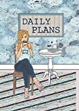"""Daily Plans: 5""""X7"""" Undated Daily Planner – Espresso Yourself - Blonde (Fits B6 Traveler's Notebook)"""