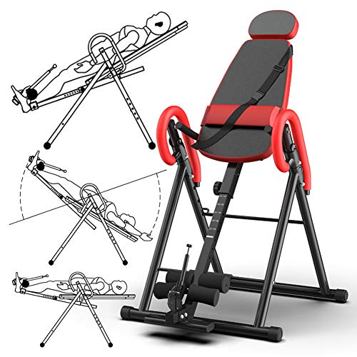 Best Review Of Inversion Table, Easy-to-Reach Ankle Lock, Back Pain Relief Headstand Bench Stool Ide...