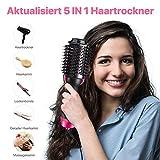 Haartrockner Warmluftbürste, Dee Banna Upgrade 5 In 1 Stylingbürste Hair Dryer & Volumizer Heißluftbürste, Multifunktionaler Negativionen-Föhnbürste, Heißluftkamm für Alle Haartypen - 5
