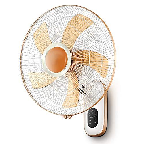 SMYH Ventilador de pared de 16 pulgadas, ventiladores de techo oscilantes industriales para con mando a distancia, 3 velocidades, para dormitorio, color naranja, ventilador eléctrico de 50 W