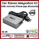 GROM Audio MST4 - USB MP3, iPhone, Android (Bluetooth) Kit für Volvo XC90 2002-2006 (CD-Wechsler-Ersatz)
