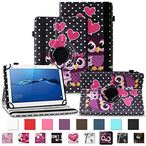 NAUC Robuste Tablet Schutzhülle für Huawei MediaPad T1 T2 T3 7.0 aus Kunstleder Hülle Tasche Standfunktion 360° Drehbar Cover Case Universal, Farben:Motiv 3