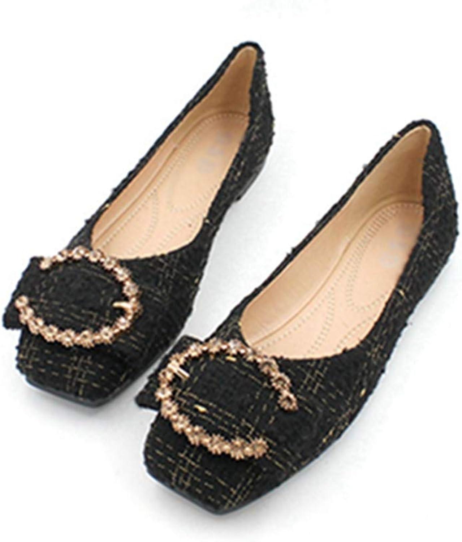 Phil Betty Women Flats shoes Square Toe Slip-On Ballet Ladies Comfort Dress Boat shoes