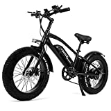 Lamtwheel Bicicleta Eléctrica para Adulto Bici Electrica Urbana con Pedales, Ebike con Dos Baterías de 10Ah, 40-70 Km Alcance, 45 Km/h, 3 Modos de Conducción, Ruedas de 20 Pulgadas
