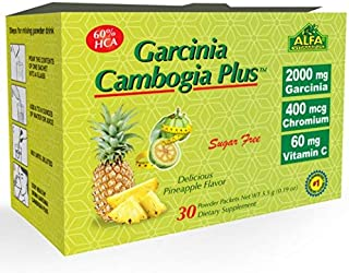 ALFA VITAMINS Best Garcinia Cambogia 2000mg per Serving - 60% HCA PLUS Chromium 400mcg - Powder Supplement - Premium Quali...