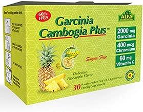 ALFA VITAMINS Best Garcinia Cambogia 2000mg per Serving - 60% HCA PLUS Chromium 400mcg - Powder Supplement - Premium Quality Source of weight control, Vitamin C 100% DV - pure and natural - 30 Sachets