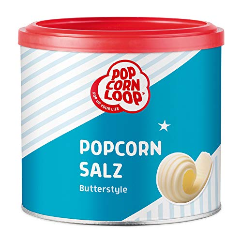 Popcornsalz Butterstyle 300g Salz mit Butter Aroma Popcorn Mais Gewürz zum Verfeinern und Kochen Backen