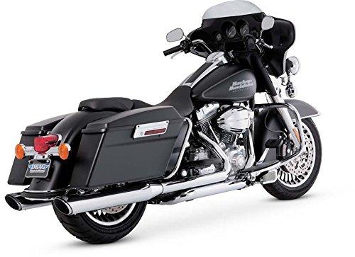 Vance & Hines 16763 Twin Slash 4 Rounds Chrome Slip On Mufflers For Harley-Davidson Touring...