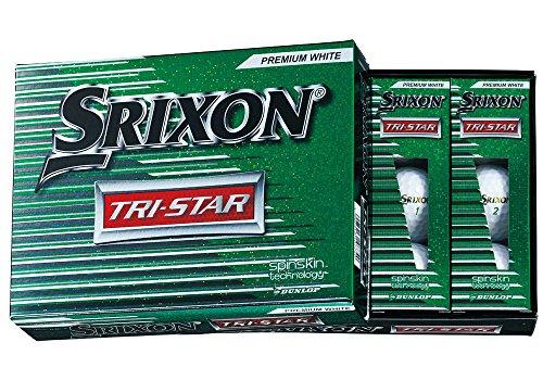 DUNLOP (Golfball Srixon Tri - Star Tri Star Golfbälle 2017 Modelljahr 1 Dutzend (12 Stück) Premium weiß