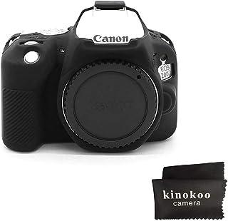 kinokoo Funda de silicona para funda protectora para Canon EOS SL3 / SL2 Canon EOS 250D / 200D / 200D II (negro)