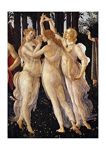 Spiffing Prints Sandro Botticelli - Three Graces in Primavera - Small - Matte - Unframed