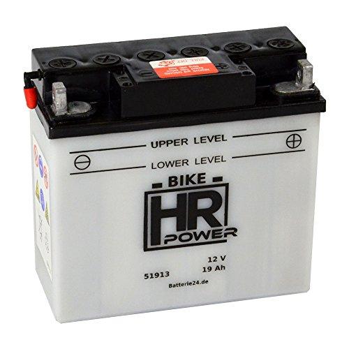 Motorrad Batterie Starterbatterie 12V 19Ah 51913 12N19AH