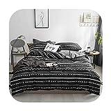 Juego de sábanas de mármol negro y gris, 100% algodón, ultra suave, sábana encimera, funda de edredón, funda de almohada, tamaño individual, queen y king, algodón, Juego de cama 10, Queen size 4pcs