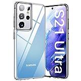TORRAS Diamond Series für Samsung Galaxy S21 Ultra Hülle Transparent (Vergilbungsfrei) Samsung S21 Ultra Hülle Durchsichtig Starke Stoßfestigkeit Unzerstörbare Hülle Samsung S21 Ultra - Transparent